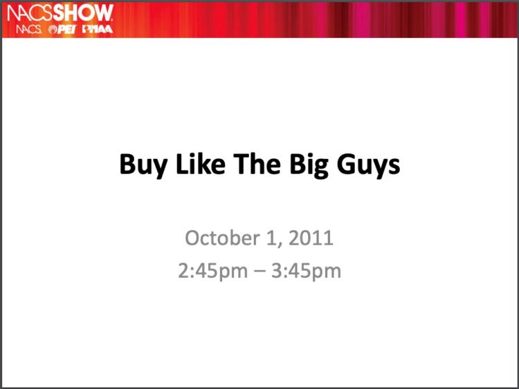 Buy Like the Big Guys