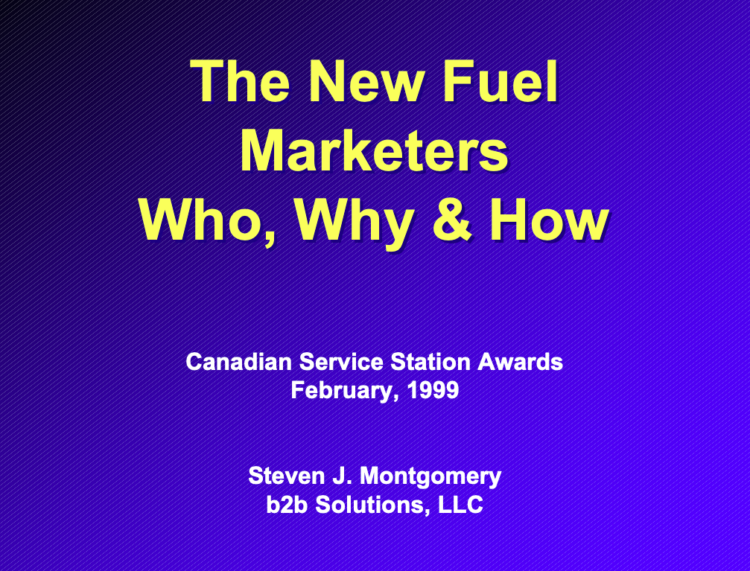 The New Fuel Marketers Who, Why & How