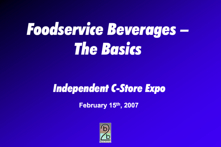 Foodservice Beverages - The Basics
