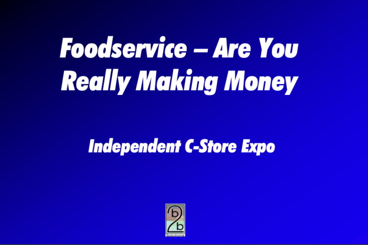 Foodservice - Are You Really Making Money
