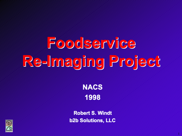 Foodservice Re-Imaging Project
