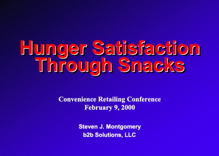 Hunger Satisfaction Through Snacks