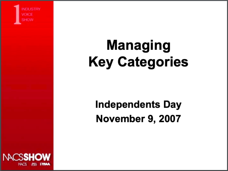 Managing Key Categories