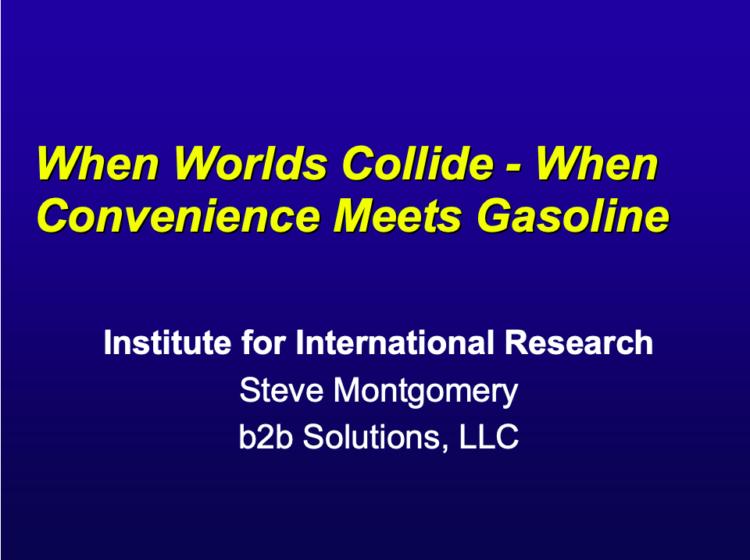 When Worlds Collide - When Convenience Meets Gasoline